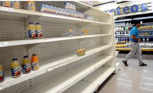 Las góndolas de los establecimientos comerciales se encuentran desprovistas de alimentos y productos de primera necesidad (fuente: El País).