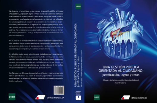 Portada de la publicación. Editorial Universitas, S.A. y UNED. Autor: Jaime Cazorla Sánchez