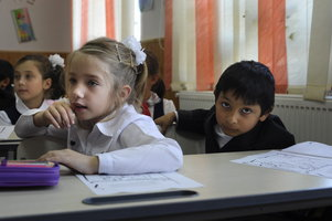 Photo: Roma children at school, Western Balkans, wordpress