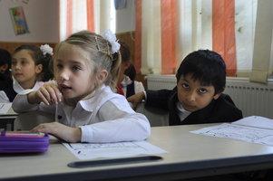 Photo: Roma children at school, Western Balkans, wordpress