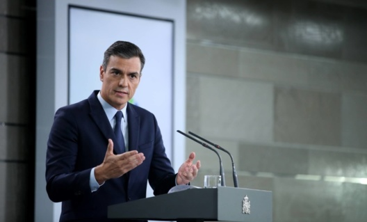 Prime Minister Pedro Sánchez, this Tuesday in Moncloa Palace. Source: Samuel Sánchez (El País)