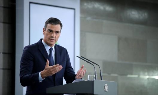 Prime Minister Pedro Sánchez, this Tuesday in Moncloa Palace. Source: Samuel Sánchez (El País)