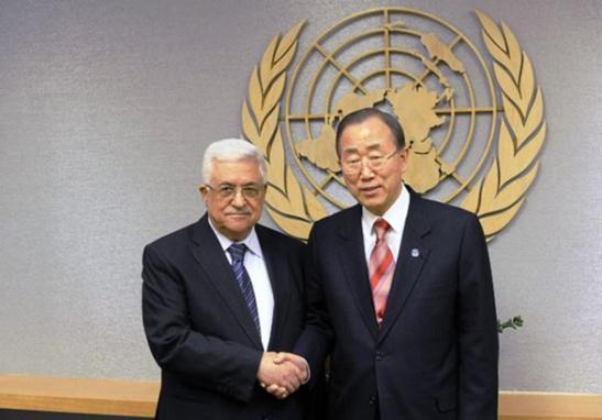 Fuente EFE/END | Mahmud Abbas (Presidente de la Autoridad Nacional Palestina) y Ban Ki-moon (Secretario General de las Naciones Unidas)